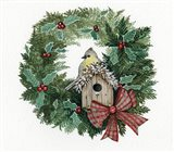 Holiday Wreath III Art Print