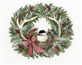 Holiday Wreath IV Art Print