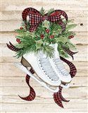 Holiday Sports I on Wood Art Print