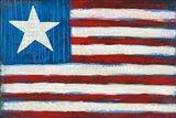Modern Americana Flag Art Print