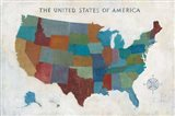 See the USA with Words Art Print