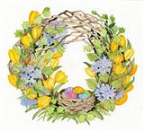 Spring Wreath II Art Print