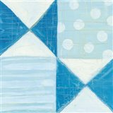 Modern Americana V Blue Art Print
