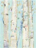 Far From Blue I Gold Leaves Art Print