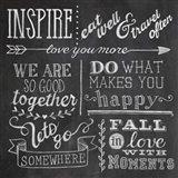 Inspiration Chalkboard III Art Print