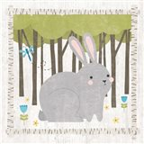 Woodland Hideaway Bunny Art Print