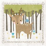 Woodland Hideaway Deer Art Print