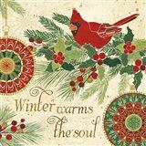 Winter Feathers VI Art Print