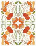 Retro Mushroom Otomi Art Print