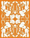 Retro Mushroom Otomi Silhouette Art Print