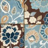 Patchwork Motif Blue I Art Print