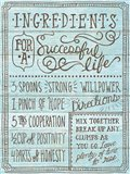 Ingredients For Life I Blue Art Print