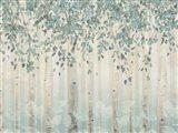 Dream Forest I Silver Leaves Art Print