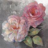 Roses on Gray I Art Print