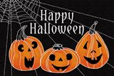 Spooky Jack O Lanterns Three Pumpkins Art Print
