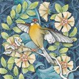 Arts and Crafts Bird IV Art Print