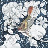 Arts and Crafts Bird Indigo II Art Print