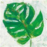 Single Leaf Play II Art Print