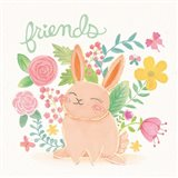 Garden Friends White II Art Print