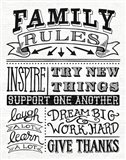 Family Rules II Art Print