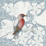 Arts and Crafts Birds I Tone on Tone Art Print