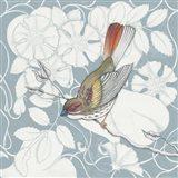 Arts and Crafts Birds II Tone on Tone Art Print