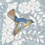 Arts and Crafts Birds III Tone on Tone Art Print