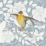 Arts and Crafts Birds IV Tone on Tone Art Print