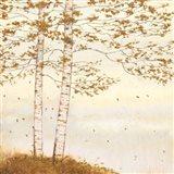 Golden Birch I Off White Art Print