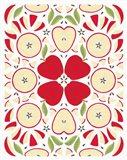 Retro Apple Otomi Art Print