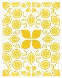 Retro Lemon Otomi Art Print