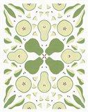 Retro Pear Otomi Art Print