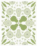 Retro Pear Otomi Monotone Art Print