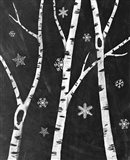 Snowy Birches III Art Print