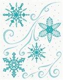 Christmas Otomi Tile I Art Print
