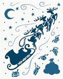 Christmas Otomi Tile II Art Print