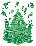 Christmas Otomi Tile IV Art Print