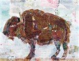 El Buffalo Brown Crop Art Print