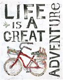 Life is a Great Adventure Art Print