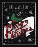 Christmas Chalkboard I Art Print