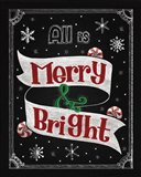 Christmas Chalkboard II Art Print