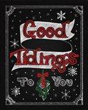Christmas Chalkboard IV Art Print
