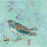 Aqua Bird with Teal Art Print
