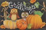 Harvest Owl I Art Print