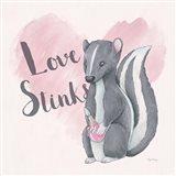 My Furry Valentine II Sq Art Print