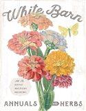 White Barn Flowers V Art Print