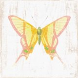 White Barn Butterflies IV Art Print