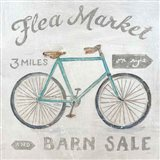 White Barn Flea Market IV Art Print