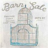 White Barn Flea Market V Art Print