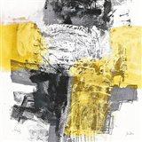 Action I Yellow and Black Sq Art Print